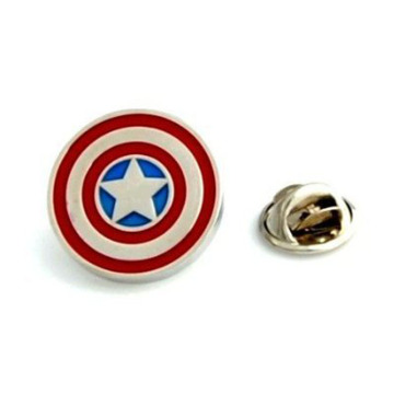 Kapten Superhero Amerika Metal Lapel Badges
