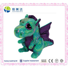 Green Dragon Big Eye Plush Toys for Kids