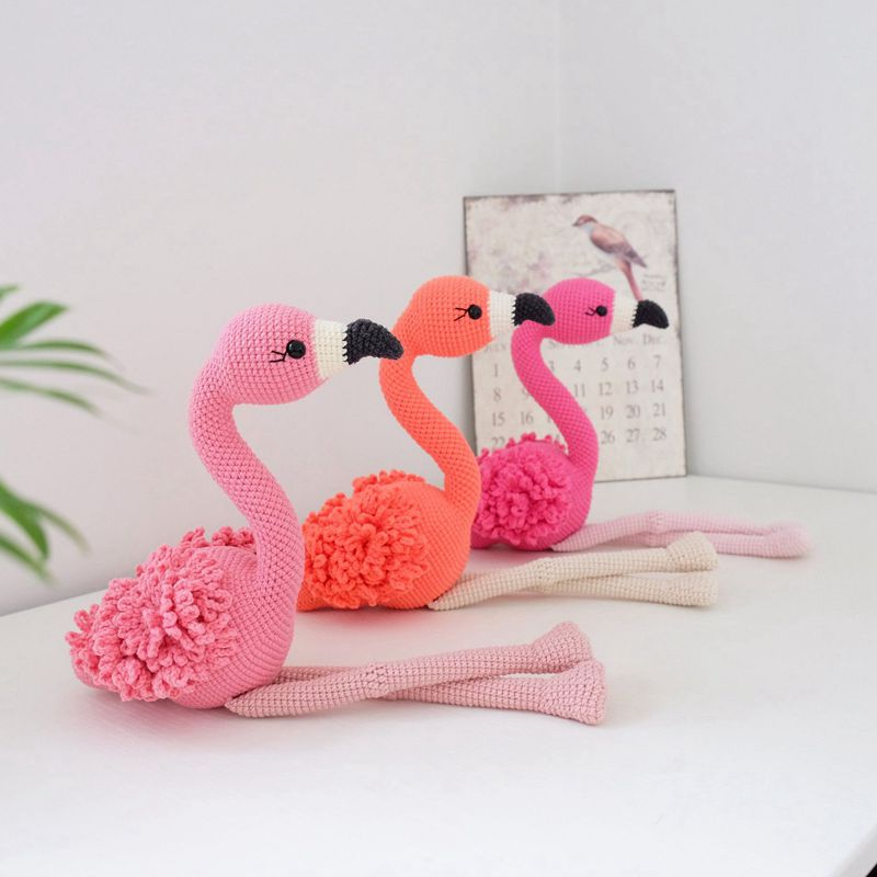 10 8 Crochet Flamingo
