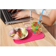Tapis de vidange en silicone Rectangle Pink Kitchenware