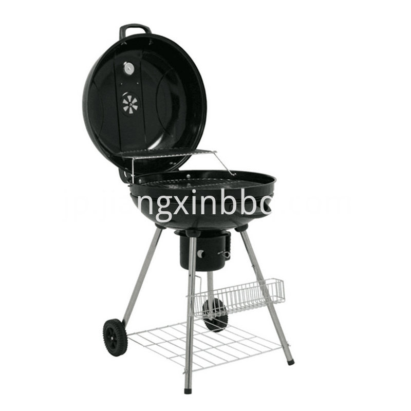 22Inch Kettle Charcoal Grill Lid open