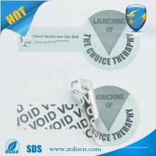 Etiqueta impresa digital, etiqueta de seguridad VOID, etiqueta de producto anti-falsificación