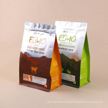 Qingdao Factory Composite Film PP PE HDPE Pet VMPET Sustainable Material Eigh-Side Sealing Packing Pet Food Pouch