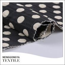 Custom oem Different kinds of fashion jacquard polka dot fabric