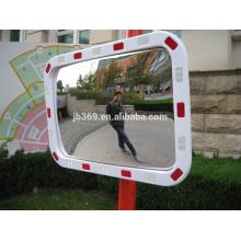 Espejo convexo cuadrado reflexivo del tráfico al aire libre plástico de 40x60cm