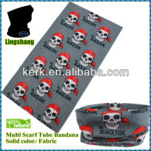 LSB50 Ningbo Lingshang 100% polyester basic size is 24*48cm neck tube seamless head bandana skull
