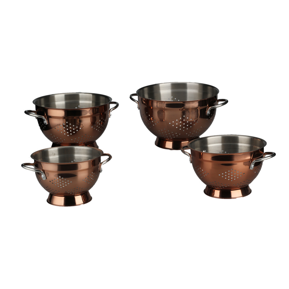 Copper Colander With Hollow Out Pattern Design