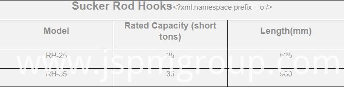 Sucker Rod Hooks
