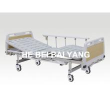(A-71) --Movable Doppel-Funktions-Handbuch Krankenhaus Bett mit ABS Bett Kopf