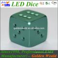 Weiß Standard 19mm Spiel Würfel MCU Steuerung bunte LED CNC Aluminiumlegierung Würfel