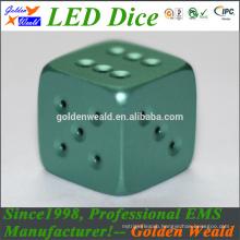 MCU control colorful LED CNC dice