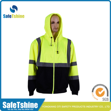 Hi Vis Hooded Sweatshirt سلامة عاكسة