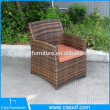 Outdoor single sofa chair with cushion