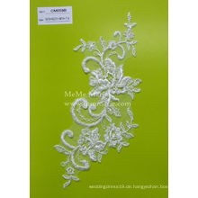 Perlenschnur-Spitze-Gewebe-weißes Spitze-Gewebe für Hochzeits-Kleid u. Kleidungsstücke CMC059B