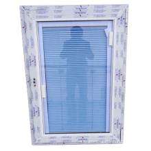 Upvc louver windows built in blinds with double hollow glass