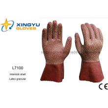 Latex Granular Interlock Shell Safety Work Glove (L7100)