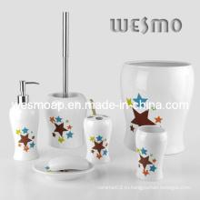 Набор для фарфоровой ванны с надписью «Звезды» (WBC0501A)