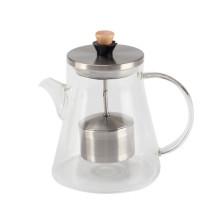 Pot de thé en verre résistant à la chaleur pour le thé en vrac