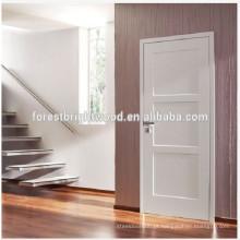 Portas interiores quentes, preço barato Stile e trilhos Portas de madeira, design branco moden Portas interiores do quarto