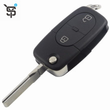 Top Quality 2 Button Key Case Folding Remote Car Key Shell Replacement For Audi  YS200507