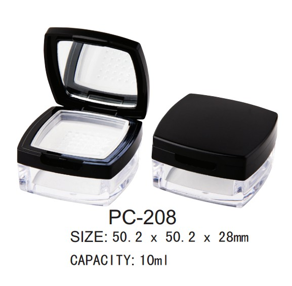 square empty loose powder case