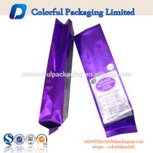 Material laminado com saco de reforço lateral de folha de alumínio para café ou chá