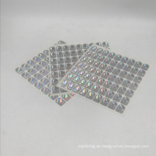 kundenspezifischer silberner Hologrammaufkleber 3D