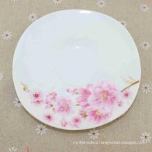Different Beautiful Flowers Printing New Bone China Rectangular Melamine Plates
