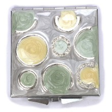 Mult-color Enamel Compact Mirrors