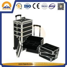 Caja de maquillaje con carrito funcional para salón (HB-3305)