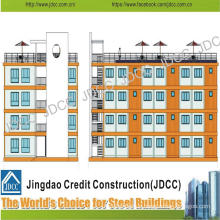 Low Cost Light Steel Structure Multi-Storey Apartment Building for Students
