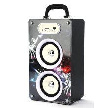 USB-Karte tragbare bunte hölzerne Radio Lautsprecher Mini-Vibration Stereo-Hifi-Lautsprecher