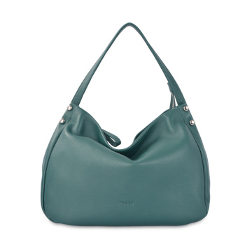 Lady Casual reine Farbe Leder Plain Hobo Bag