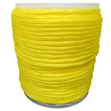 Polypropylene hollow braided rope  poly rope cordage yellow 6mm