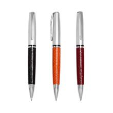 Metal Material Company Logo Pen Caneta esferográfica de couro