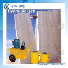 Cantera piedra hidráulico Jack máquina para empujar