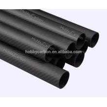 Fabricação OEM 30X26X1000mm 3k fosco Twill Plain 100% tubo de fibra de carbono completo