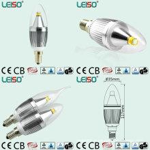 Bulbo da vela do diodo emissor de luz de Dimmable da microplaqueta do CREE de 5W 90ra E14 / B15 (LS-B305-SB-Um-CWWD / CWD)
