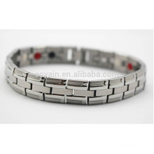 Custom aço inoxidável pulseira de corrente de prata para homens
