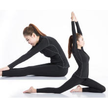 Ropa deportiva de manga larga Camiseta deportiva para mujer Yoga Running