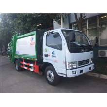Camion de compacteur de déchets de recyclage de rouleau de chargement arrière 3cbm