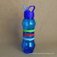 Plastic Water Bottle with Straw