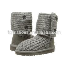 Kids Boots Knitted camisola Crochet Meninas Botas