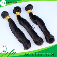 Extensão não tecida quente do cabelo humano de Remy do cabelo do Virgin das vendas 100%