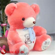 OEM soft ICTI plush toy factory red teddy bear plush toy