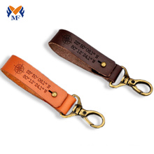 Bracelet porte-clés en cuir avec coordonnées