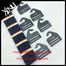 Gancho de gravata de plástico com logotipo personalizado gravata