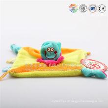 cobertor de bebê bordado com toalha de banho de brinquedo animal