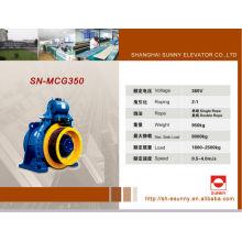 Elevación VVVF máquina de la tracción del elevador, 320kg - 2500kg
