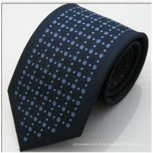 Cravate en soie de polyester de haute qualité, cravate à la mode en gros